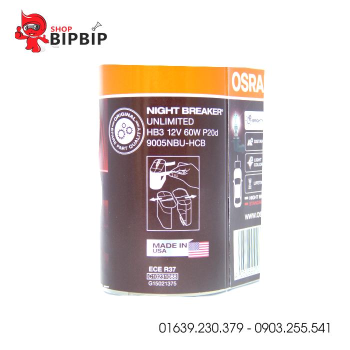 Bóng đèn Osram siêu sáng HB3 12V 60W chính hãng giá rẻ
