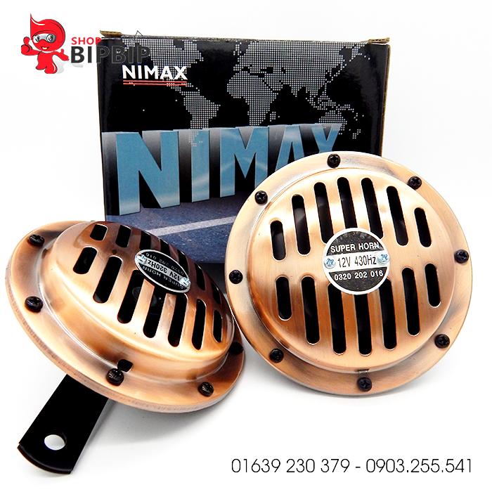 Còi đĩa NiMax 12V giá rẻ ở hà nội