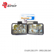 Bóng đèn led trợ sáng ô tô 6 bóng vuông RunLai chính hãng giá rẻ